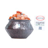Pepper Agro Pebbles Stones for Decoration / Garden / Table / Aquarium 10 to 15 mm Onyx Orange Pebble - Pepper Agro