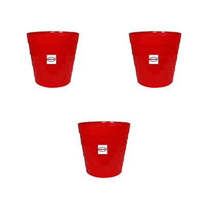 Buy Plastic Garden Brix Round Red Pot 12 Inch for Home Decor & Garden Décor Online India