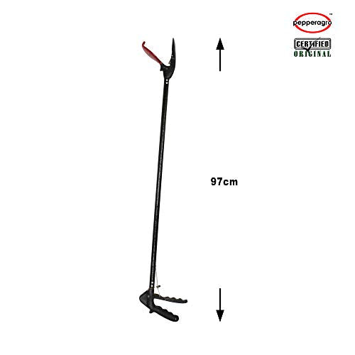 Pepper Agro Rescue Stick, 3.2 ft Reach Small Tong- Wide Jaw- Black