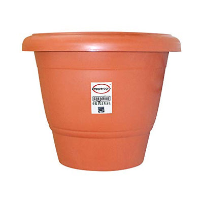 PEPPER AGRO 18 INCH ROUND FLOWER POTS TERRACOTTA PLANTER - 1 Qty