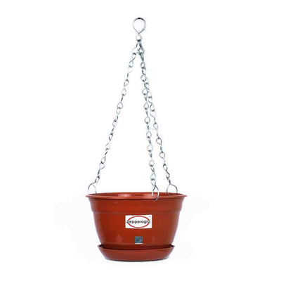 Pepper Agro Hanging Flower Planter with Metal Chain and Base Plate 8inch