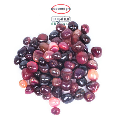 Pepper Agro Pebbles Stones for Decoration / Garden / Table / Aquarium 10 to 15 mm Onyx Red Pebble - Pepper Agro