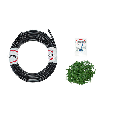 Pepper Agro Drip Irrigation 4 mm Feeder Line Pipe, Connectors & Drip Hole Punch