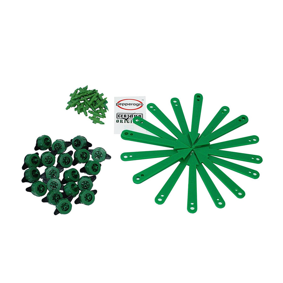 Pepper Agro - Gardening Combo Emitter-20, Stake-20,Pinconnector-20, 4mm pipe -10m & drip hole punch