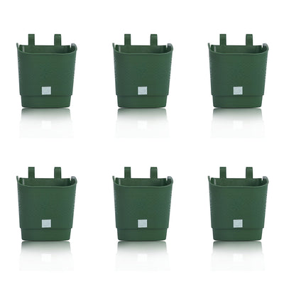 Pepper Agro Flower Pots Vertical Garden Wall Hanging Planter Green Set of 6