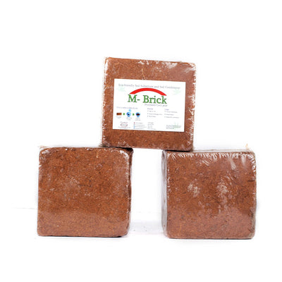 Pepper Agro Organic coco peat Briquettes sieved and low EC Expands Up to 66 litres (850gm briquettes x 6Qty)