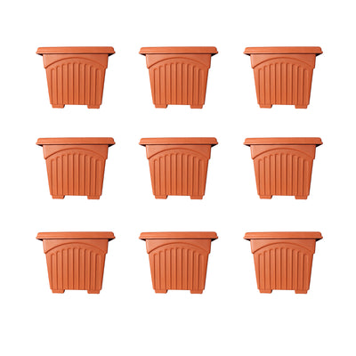 Pepper Agro 16inch Square Planter Terracotta Color Buy Online