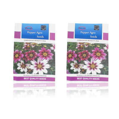 Pepper Agro Coreopsis Beauty Mix Flower seeds 2 packs