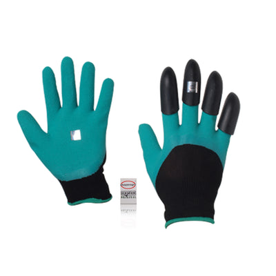 Pepper Agro Garden Unisex Gloves with Plastic Claws for Pruning, Digging & Planting Free Size