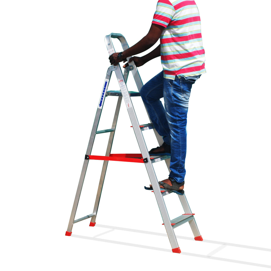 Pepper Agro Foldable Ladder Aluminium Light Weight 4 steps for Home use 5.8 Feet