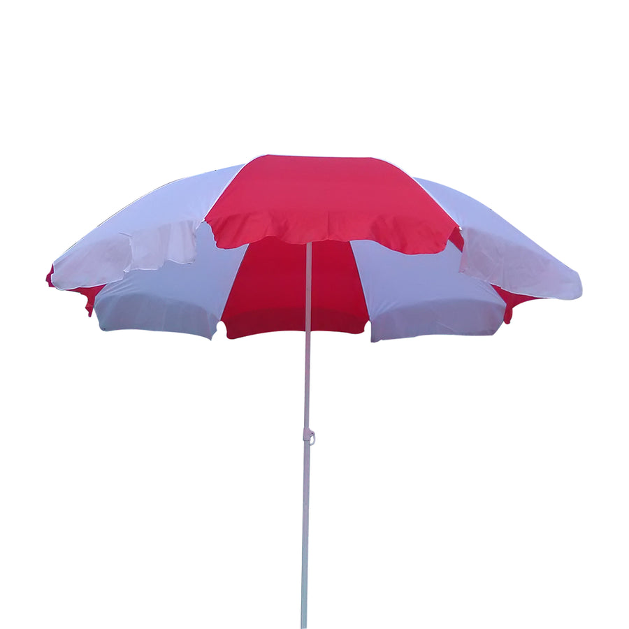 Pepper Agro Garden Umbrella Outdoor use Ideal for beach/lawn/marketing/sun protection Red and white 6.6 feet