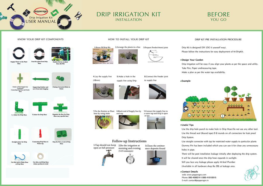 Pepper Agro Drip Irrigation Kit Installation Services