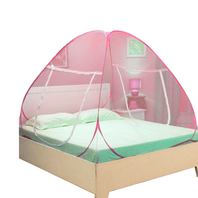 Pepper Agro Foldable Queen Size Sleeping Double Bed Multi Colour Mosquito Net Set of 1