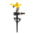 Pepper Agro Garden Watering Adjustable Impact Metal Pulsating Sprinklers on T- Spike with Multi Adaptor Set of 1