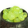 Pepper Agro Pebbles Stones for Decoration / Garden / Table / Aquarium 10 to 15 mm Onyx Parrot Green Pebble - Pepper Agro