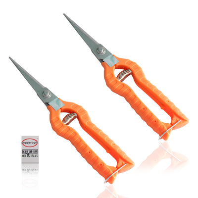 Pepper Agro Garden Scissors Pruning Shears Flower Cutter Branch Trimmer Steel Blade with Lock Set of 2