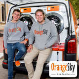 Co-founders of Orange Sky Australia, Nicholas Marchesi and Lucas Patchett