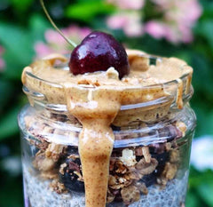 Food & Recipes - Cherries and Berries, a delicious, healthy portable breakfast in a jar