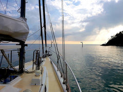 Sailing to Great Keppel Island