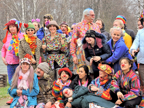 Clowning around in Russia with Patch Adams and the whole troupe!