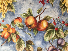 'Fruit', acrylic wax resist painting by Katie Manning