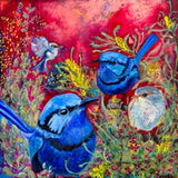 Blue Wrens, artwork by Mychelle Mahar