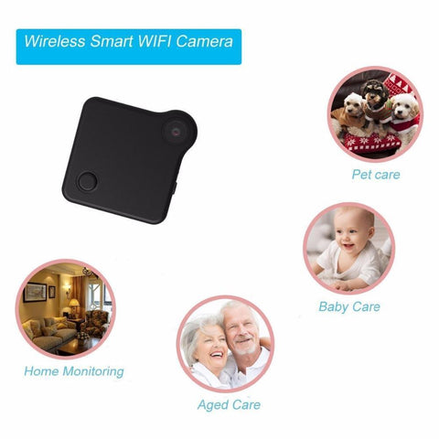 WiFi P2P Mini Camera With Recorder, Wireless Control And Viewer