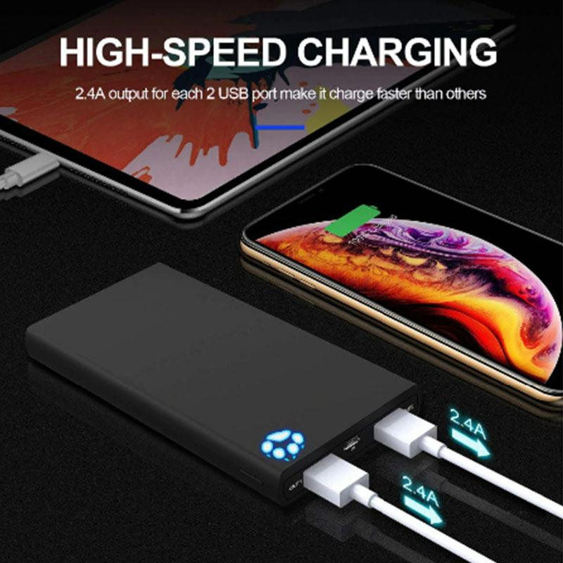 BEST Rated 10000mAh Power Bank With Dual 2 USB Ports For iPhone & Samsung