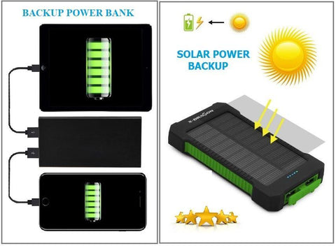 POWER WHEN YOU NEED IT!  CHOOSE FROM SOLAR or POWER BANK Backup!