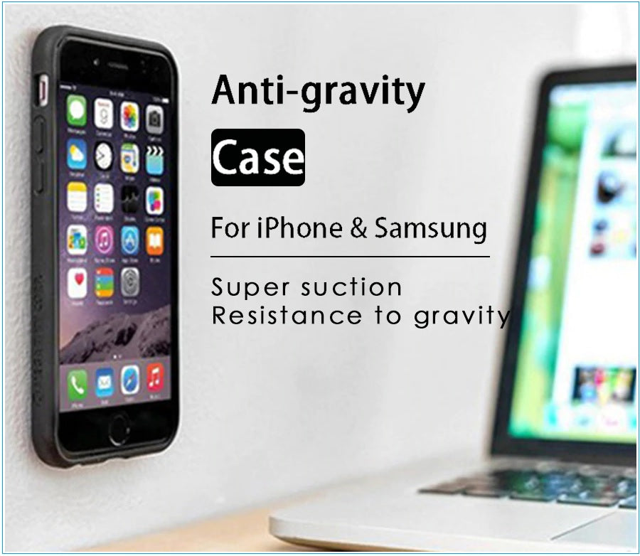 Amazing Anti Gravity Case Lets You Stick Your Phone Anywhere Without Adhesive!  Defy gravity now!
