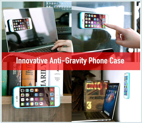 Image of Amazing Anti Gravity Case Lets You Stick Your Phone Anywhere Without Adhesive!  Defy gravity now!