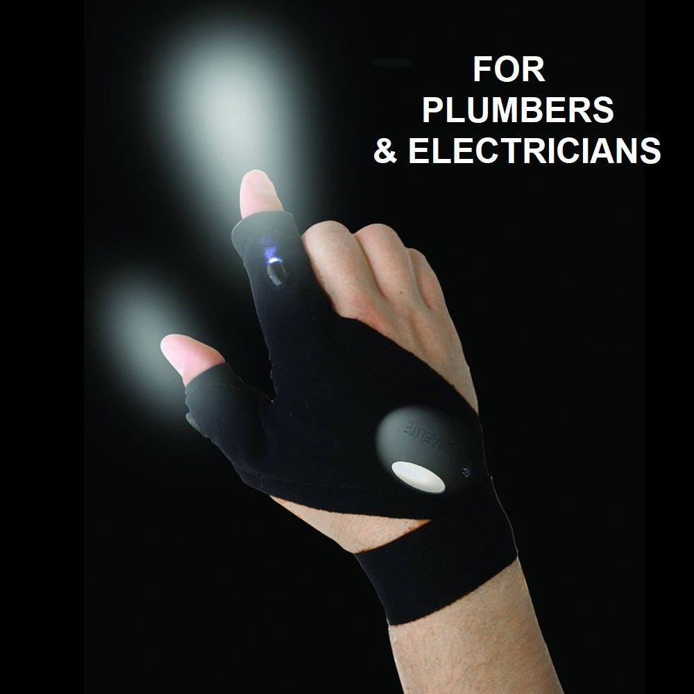 Special Multipurpose LED Lighted Glove Perfect For Repairs & Working in Dark Places, Emergencies, Fishing, Camping, Hiking & More!