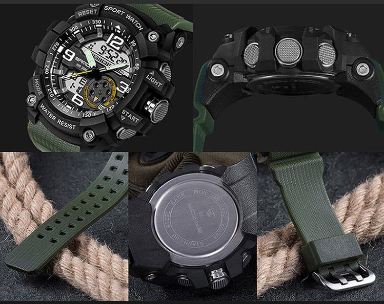 Military-Sports Watch With Advanced LED+Quartz Technology & Loaded With The Functions You Need