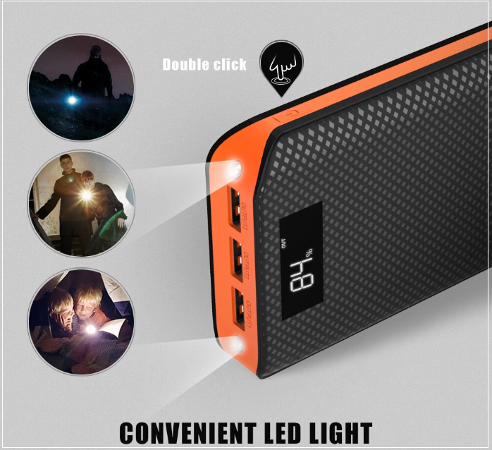 NEW BEST Rated 20000 mAh, 3 USB Port External Power Bank For ALL Mobile Devices + Built In LED Flashlight + 🚛 You Get FREE Shipping Too!