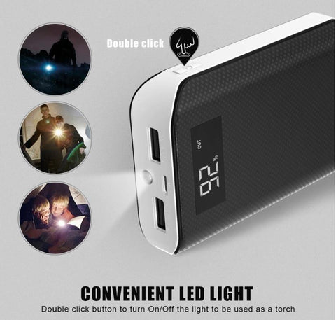 Image of BEST Rated 6000 mAh, 2 USB Port Power Bank For ALL Mobile Devices + Built In LED Flashlight + 🚛 You Get FREE Shipping Too!