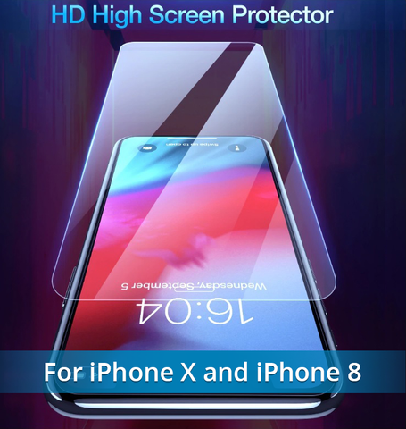 Image of Add the NEW Fingerprint Proof Tempered Glass Screen Protector For iPHONE 8, X, XS, and MAX.  Best Quality and You SAVE 67% when you ADD To CART Now!
