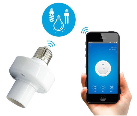 Image of WIFI Smart Bulb Socket Gives You Automation From Your Smart Phone