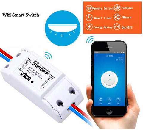Image of Wired Inline WIFI Smart Switch, Remote Control & Timer