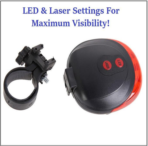 FREE TODAY: The Absolute BEST Safety LED Laser Light Made For SAFER NIGHT TIME BIKING! Rated BEST.