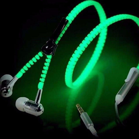 Image of GLOWING ZIPPER EARPHONES
