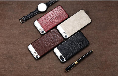 Image of LUXURY METAL + LEATHER CASE FOR YOUR iPHONE