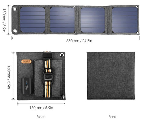 Image of Power Backup Anywhere For You With This BEST RATED Solar Charger - Compact & Portable, Always Ready