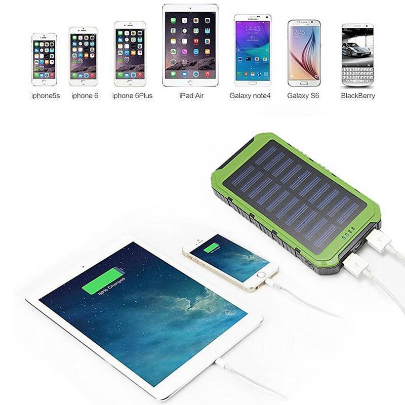 DUAL Bank Solar Powerbank For Charging Phones & Devices Fast So You Always Have The Power You Need!