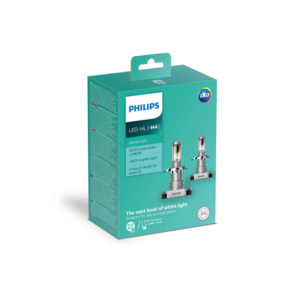 AMPOLLETAS PHILIPS ULTINON LED H4/HL