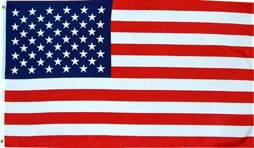 2 American Flag - Durable Outdoor Color-Vibrant Polyester 3' X 5' (Package of 2 or 3)