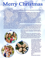 25 Personalized Family Christmas Letters - Holiday Newsletters - not Cards - Premium Glossy Paper Printed Letters with Your Photos & Greetings - Delivered to Your Door - Ready to Go!