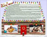 50 Personalized Family Christmas Letters - Holiday Newsletters - not Cards - Premium Glossy Paper Printed Letters with Your Photos & Greetings - Delivered to Your Door - Ready to Go!