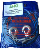 Towing Rope Chain Cable - Heavy Duty Steel - 13 Feet