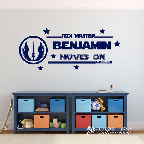 Personalized Jedi Master Name Wall Sticker