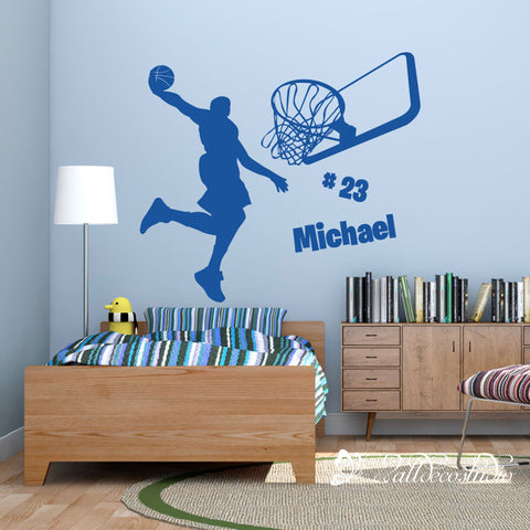 Michael Jordan Basketball with Custom Jersey and Name